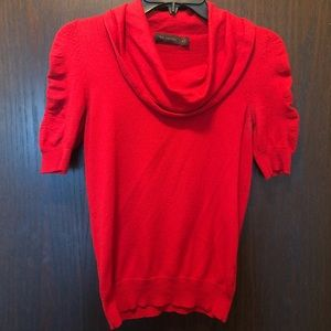 The Limited Red Cowl Neck 3/4 Sleeve Top